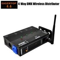 Meerdere Installatie Methoden 4DMX Distributeur met 2.4g Draadloze DMX Hoogspanning Bescherming Onafhankelijke Input & Output Signaal