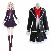 Komori Yui cosplay costumes lolita skirt Japanese anime  Diabolik Lovers clothing(Blazer+skirt+vest+tie)