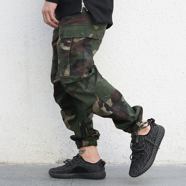 Autumn New Arrival Men's Military Jogger Pants Teenagers Fashion Camouflage Pants Water Wash Overalls Long Trousers