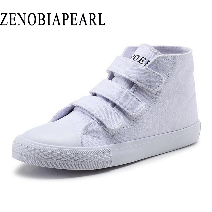High-qual Autumn children shoes boys girls sneakers fashion kids high tops Breathable ca ...