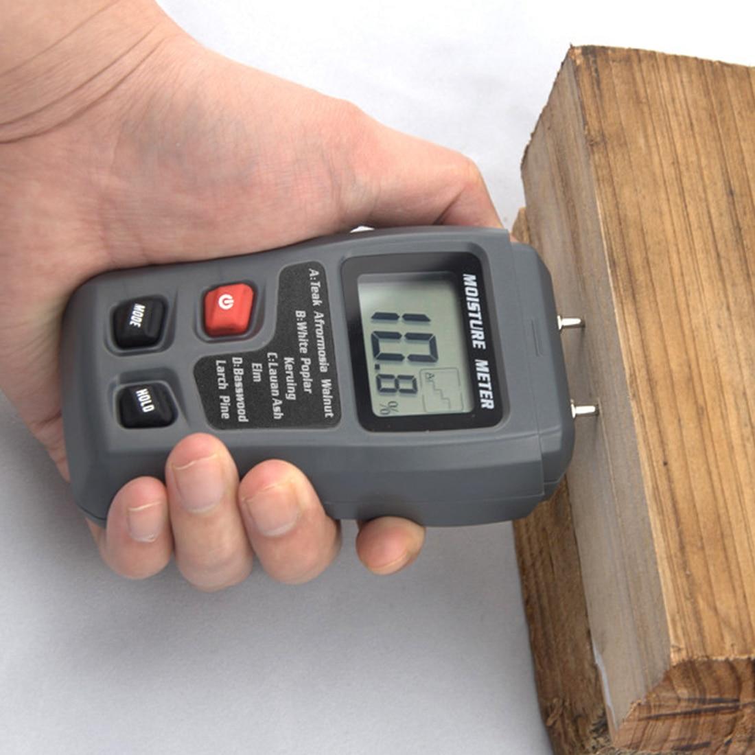 Timber Detector Damp 0.5 Per Cento Precisione Misuratore di Umidità Prova Due Perni Digital Wood Moisture Meter Umidità Tester 0-99.9%