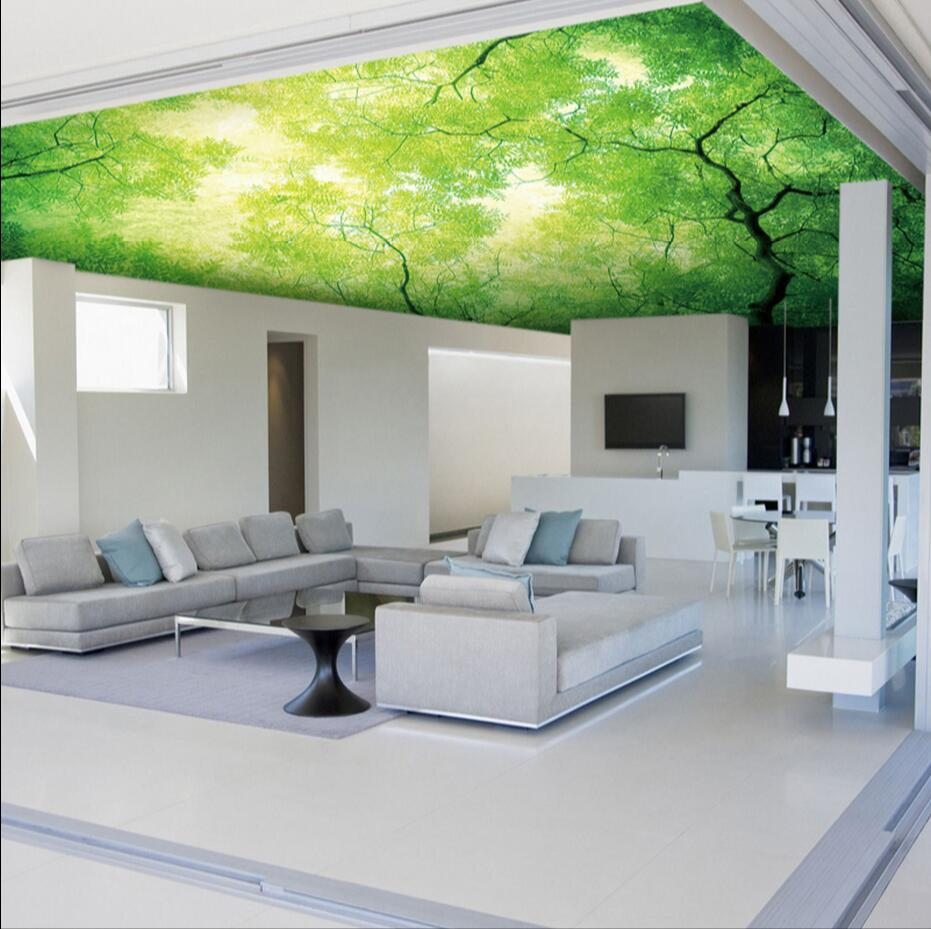 Abstract Wallpaper Mural for Living RoomWall Art Decor Wallcovering Green Tree photo wallpaper Murales de pared 3d Contact Paper large painting home decor relief green flowers hotel background modern mural for living room murales de pared 3d wallpaper