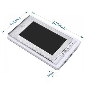 "Image 5 - 7 ""צבע מסך וידאו דלת טלפון אינטרקום מערכת RFID כרטיס מצלמה Strike מנעול חשמלי + ספק כוח + דלת יציאה וידאו פעמון"
