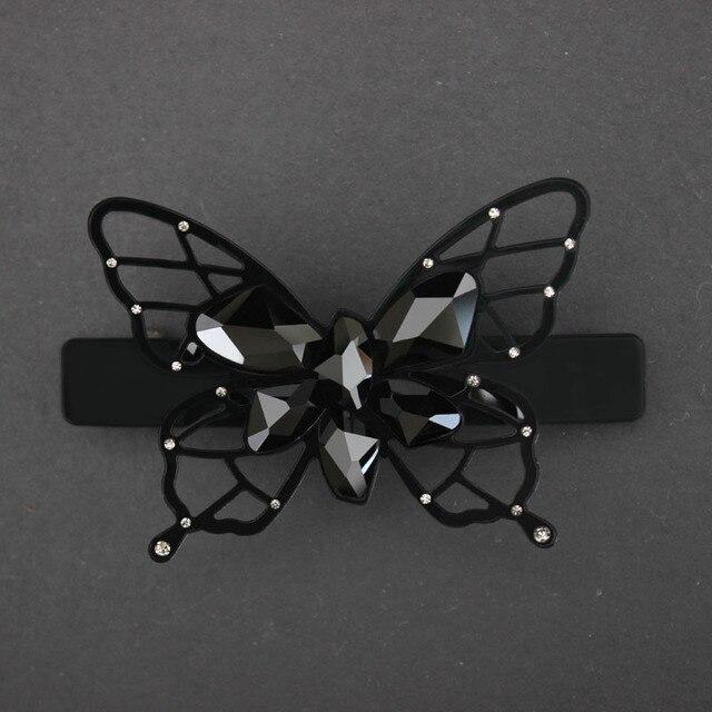 Заколка для волос во французском стиле аксессуар из черной ацетатной