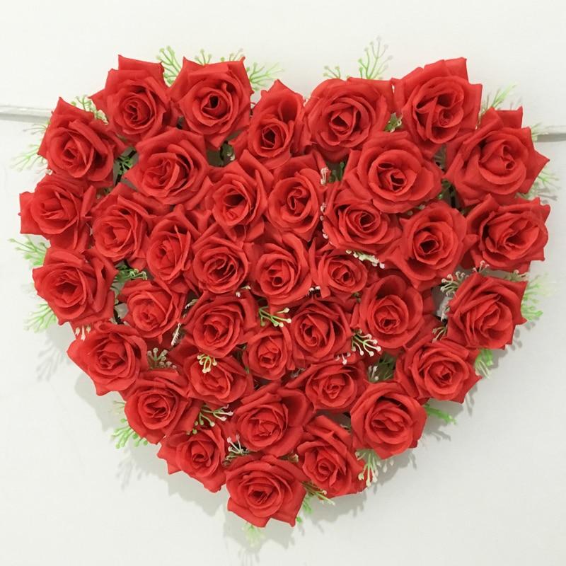 14 Warna 40 Cm 40 Cm Bentuk Hati Yang Indah Bunga Mawar Untuk