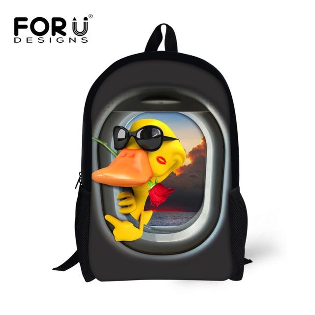Bolsas bolsas de la escuela de dibujos animados pato amarillo niños mochila niños mochila escolar mochilas niños bolsa de la escuela la venta el envío rápido