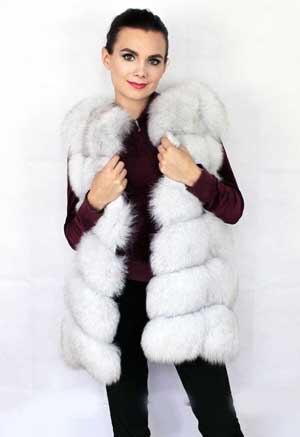 Linhaoshengyue 73 см длинные Высокое качество меха лисы Жилет натуральным лисьим мехом женские жилет - Цвет: Natural color