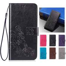 Lucky Four-leaf Clover Pattern Leather Wallet Flip Case For Asus Zenfone Max (M1) ZB555KL 5.5 inch protective phone case(China)