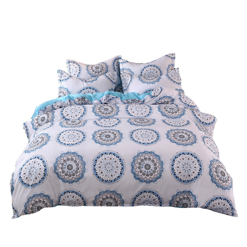 Quilted Pillow Case 2019 Most Popular 3 Piece Set Soft and Faded Monochrome Plain Printed Bedding Set #4M07Quilted Pillow Case 2019 Most Popular 3 Piece Set Soft and Faded Monochrome Plain Printed Bedding Set #4M07