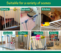 75 82cm High Quality Quiet Solid Wood Baby Gate Stair Fence Pet Dog Fence Dog Doors