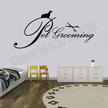 Pet Grooming Beauty Salon Logo sticker for pet  salon decal wall stickers Vinyl art Wall decoration letter ZW18