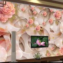 Custom 3D wallpaper, red rose w