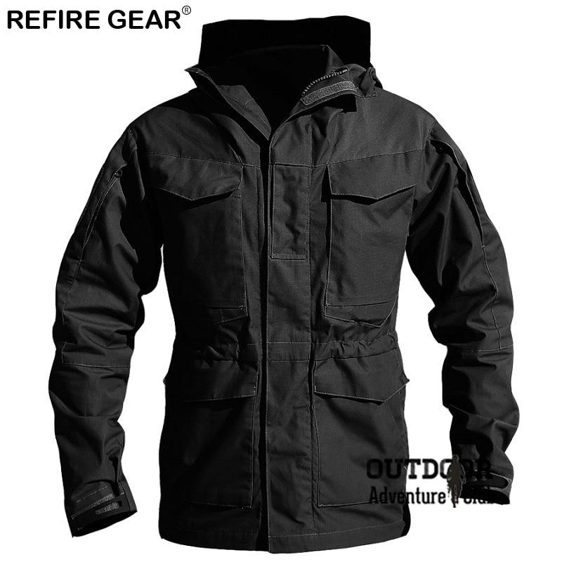 M65 Outdoor Hiking Clothes Windbreaker Jackets Men Winter Autumn Waterproof Coat Hoodie Paintball Climbing Camping Jacket