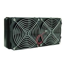 Радиатор с 2 вентиляторами G1/4 240 мм, настольный компьютер, водяное охлаждение, толщина алюминия 60 мм, Прямая поставка