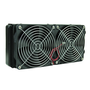 Image 1 - G1/4 240mm 2 Fans Radiator Computer Desktop Water Cooling Aluminum Thick 60mm  Drop Shipping