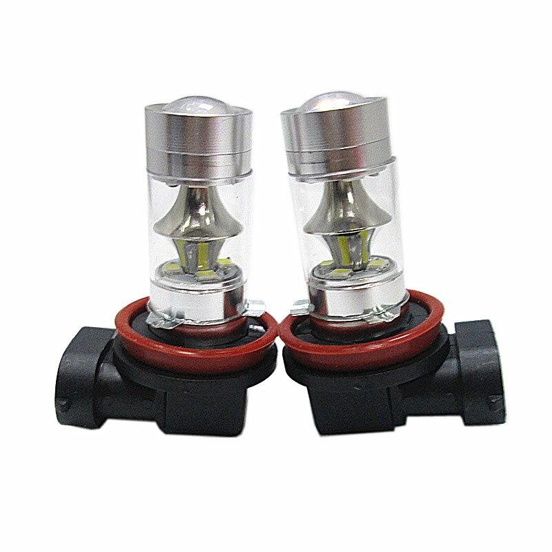 2pcs White LED H4 H7 H8 H11 LED HB3/9005 9006/HB4 1156 1157 LED High Power 12SMD P60W Car Fog Bulb Daytime Running Light Lamp
