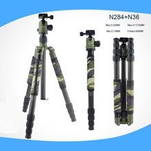 Professional Carbon Fiber Camera Tripod BallHead Monopod Changeable For Canon Nikon Sony Fujifilm DSLR Camera tall