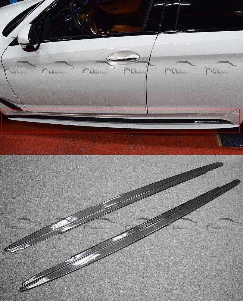 Car Styling corredi Del Corpo In Fibra di Carbonio MP Style Minigonne Laterali di Estensione Labbro Adatto A Per BMW 5 Serie G30 F90 M5