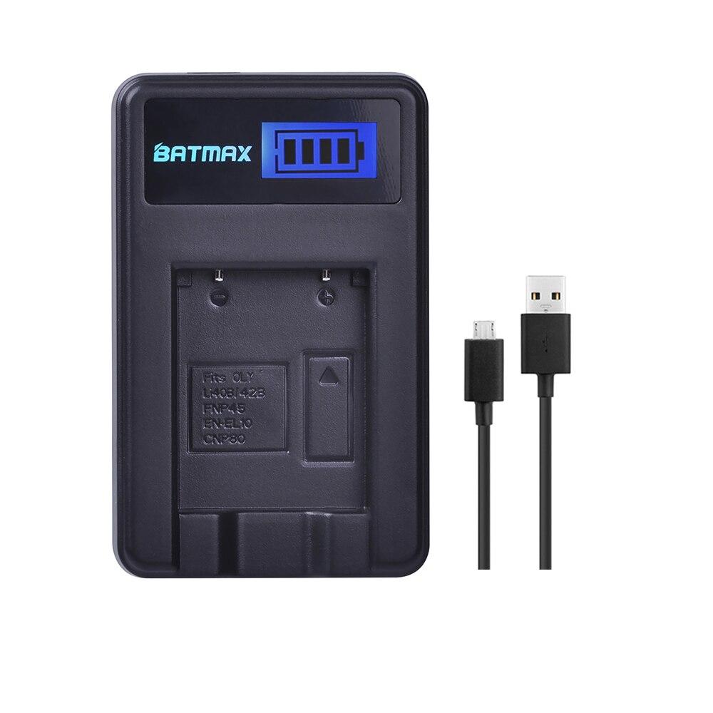 LCD Display USB Charger for Olympus LI 40B LI-42B Battery for FUJIFILM fuji NP-45 NP 45 NP45 NP 45A 45B 45S EN-EL10
