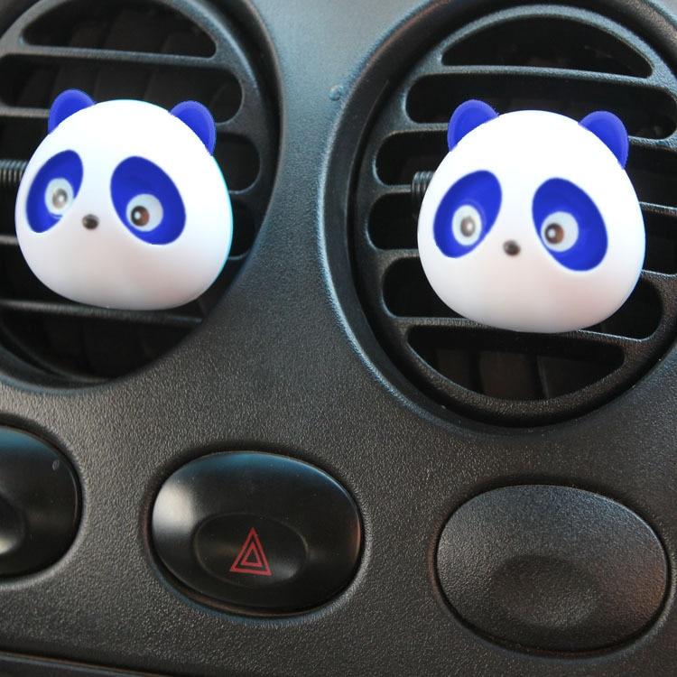 2017 2 шт. автомобиль-Стайлинг Panda автомобилей Духи 5 мл одноцветное Освежители Воздуха OEM Кондиционер Vent ароматизатор в автомобиле parfums