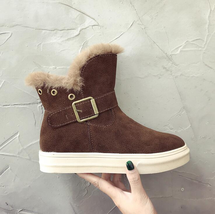 2 Felpa Cálidas Mujer 3 Súper Botas Gamuza Invierno De Zapatos Para Nieve 1 xCzw4XP