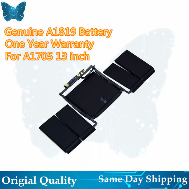 "GIAUSA New A1819 Battery For APPLE MACBOOK PRO 13"" A1706 2016 2017 YEAER"