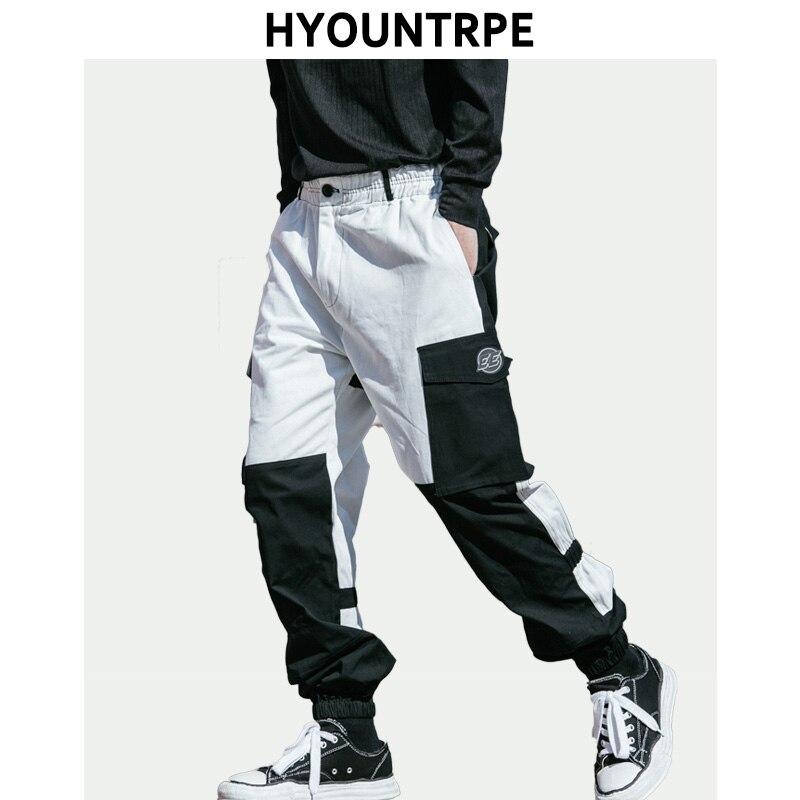 Vita Fit Elastica Dei Tasca Hop Patchwork Streetwear Degli Nero multi Modo  Zipper Di Loose A Pantaloni Hip Harem Laterale Il Casual Uomini 0wPUv 0580b79f8737