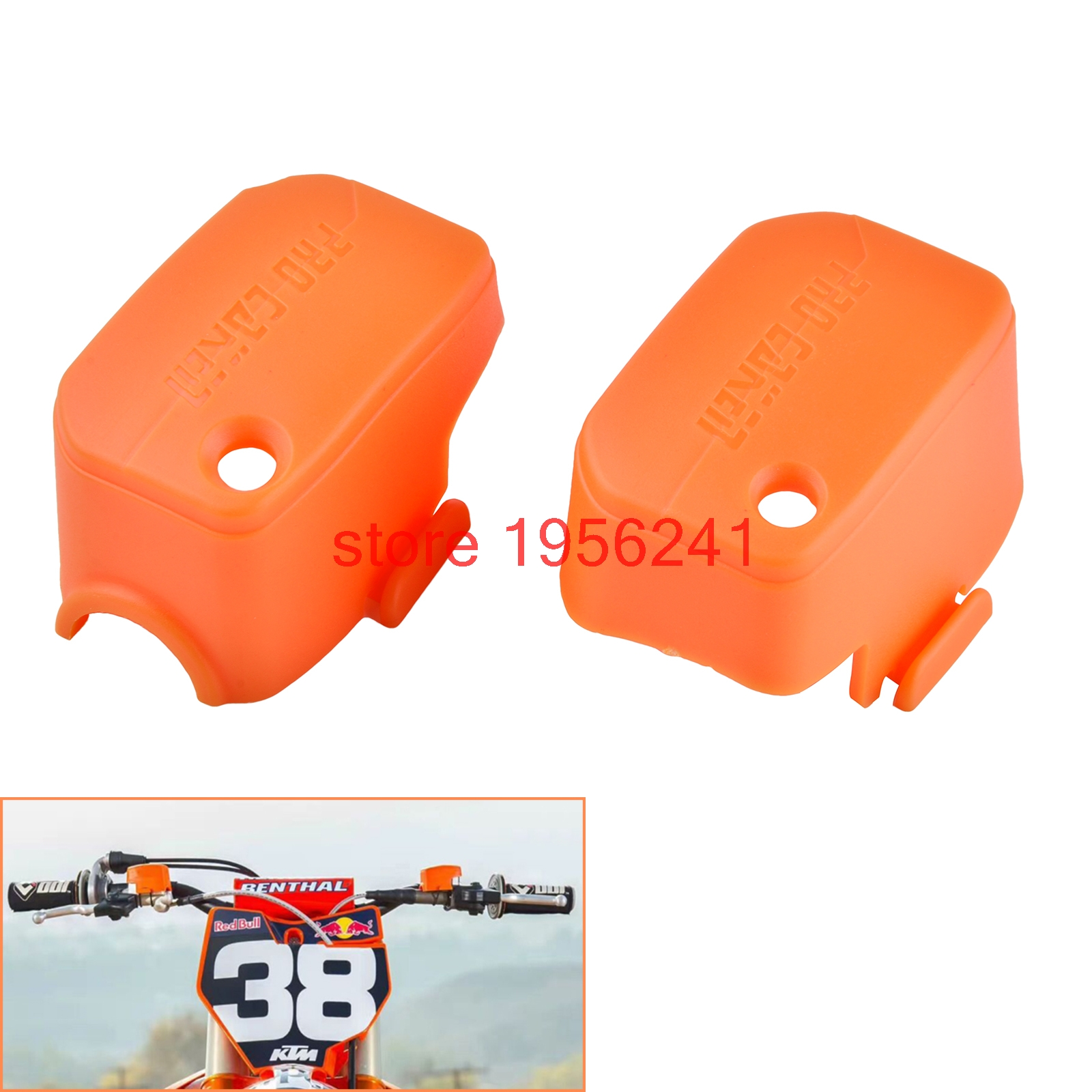 Plastic Master Cylinder Cover For KTM 125 200 250 300 350 400 450 500 525 530 SX SXF XC XCF XCW XCF-W EXC EXC-F SMR XCR-W orange cnc billet factory oil filter cover for ktm sx exc xc f xcf w 250 400 450 520 525 540 950 990