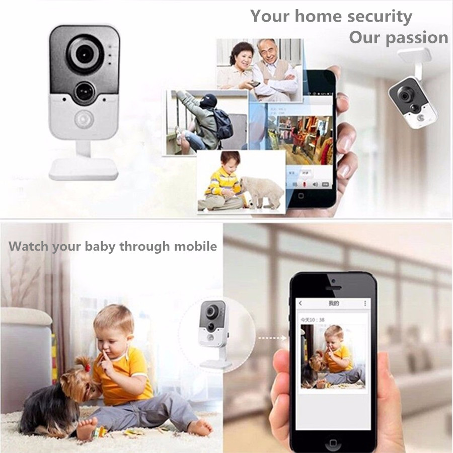 Original HIK Wireless Security Camera DS 2CD2442FWD IW poe IP camera onvif Indoor 4MP IR Cube WiFi beveiligings cam in Surveillance Cameras from Security Protection