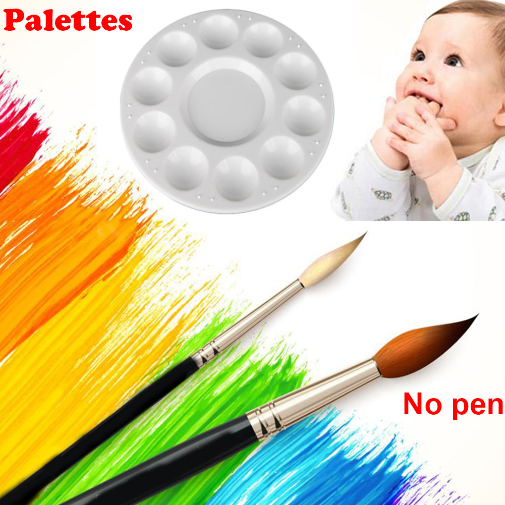 Watercolor Color Mixing Paint Palette Tray Oil Painting Artist Kids Palette