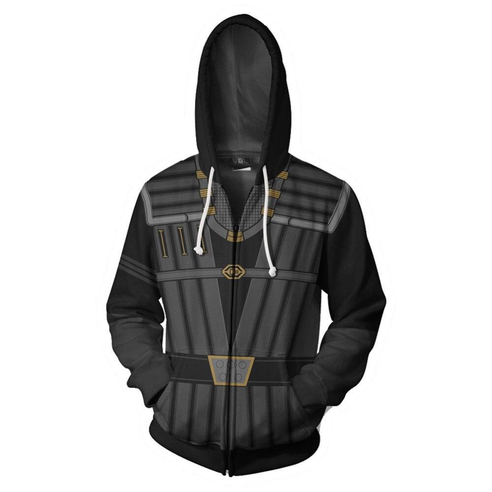 star trek uniform Klingon Costumes hoodie Sweatshirt Anime Cartoon hooded Jackets