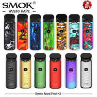 Stock Original SMOK Nord Pod Kit 1100mAh&3ML Pod System Vape cigarette  electronique With Nord Mesh Coil Vapor Vape Pen Pod Vape