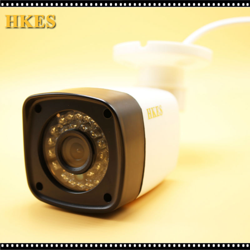 HKES H.264 2MP Security IP Camera Outdoor CCTV Full HD 1080P 2.0 Megapixel Bullet Camera IP 1080P Lens IR Cut Filter ONVIF  LED