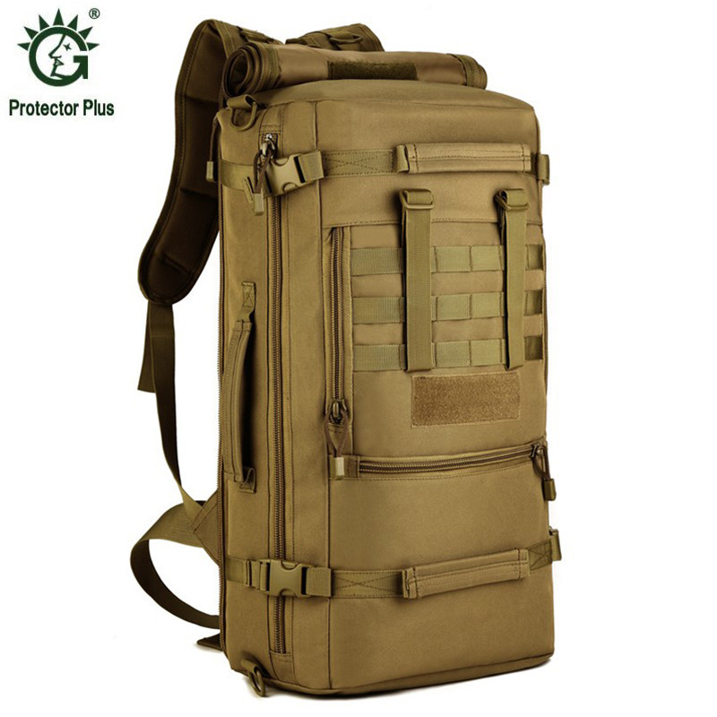 50L Men Woman Military Backpack Waterproof Nylon Fashion Male Laptop Back Bag Female Travel Rucksack Camouflage