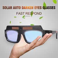 Samościemniającymi słoneczna maska do spawania spawanie kask oczy gogle/spawacz okulary Arc ochrony kask dla SPAWARKA/sprzęt
