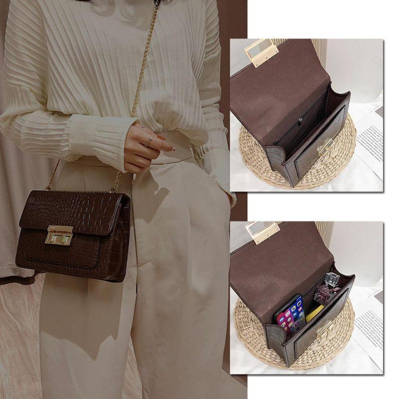 2019 moda feminina pequena cor sólida bolsa