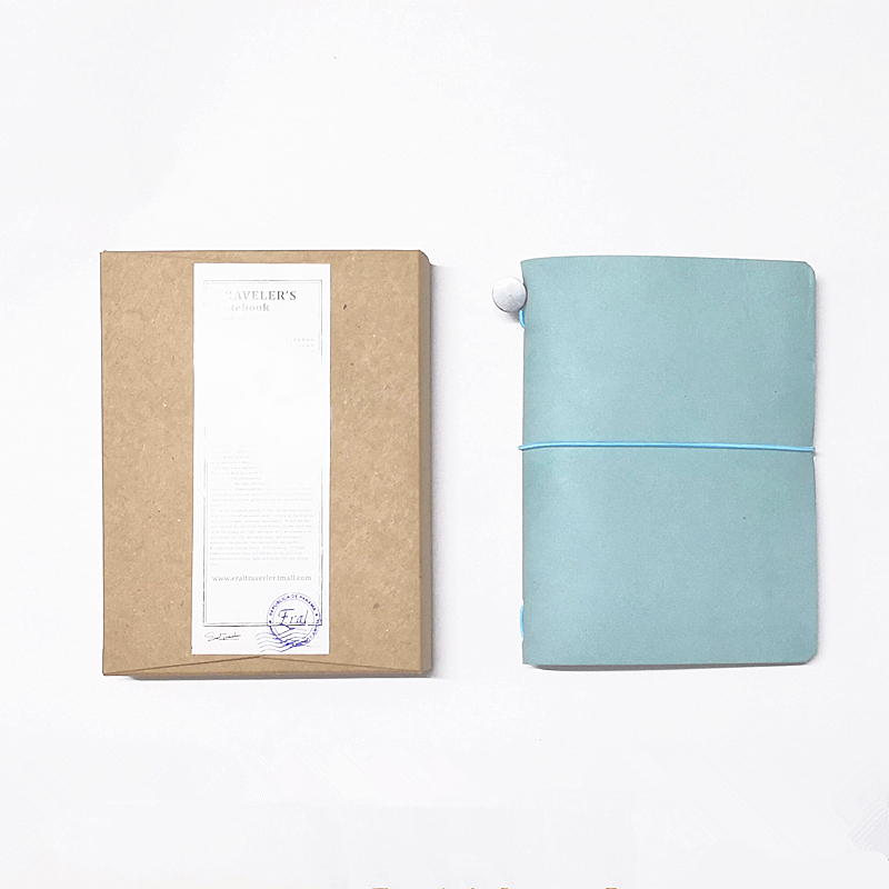 ERAL Traveler's Notebook-small Sizes Nine Colors. Colour Fashion. Passport Size Can Be Put In It As A Folder.Travel With You.