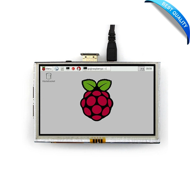 "5"" LCD HDMI USB Touch Screen Display TFT LCD Panel Module 800*480 for Banana Pi Raspberry Pi 2 Raspberry Pi 3 Model B / B+"
