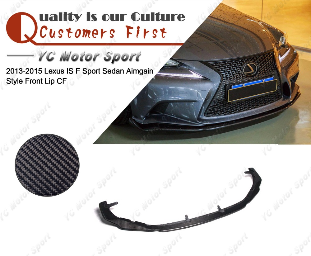 Car Accessories Carbon Fiber Aimgain Style Front Lip Fit For 2013-2015 Lexus IS F Sport Sedan Front Bumper Lower Splitter