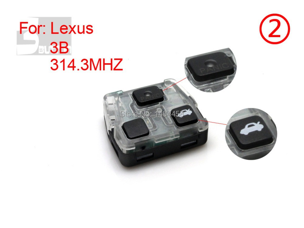 Made in china, Auto remote key, remote 314.3MHZ 3 button for Lexus ES0124002,free shipping
