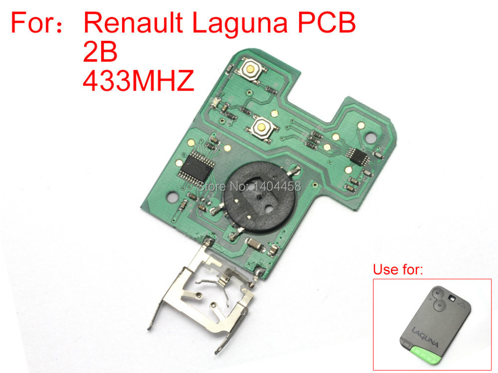 High Quality,wholesale remote board 2 buttons 433MZH for Renault Laguna,car alarm remote control replacement,free shipping peccinin replacement remote control 433 92mhz top quality free shipping