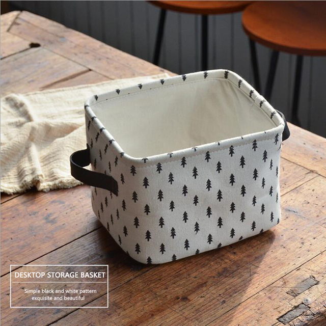 Nordic Ins Multifunction Fabric Storage Baskets Clothing Underwear Canvas  Basket Folding Toy Sundries Storage Box Decoration