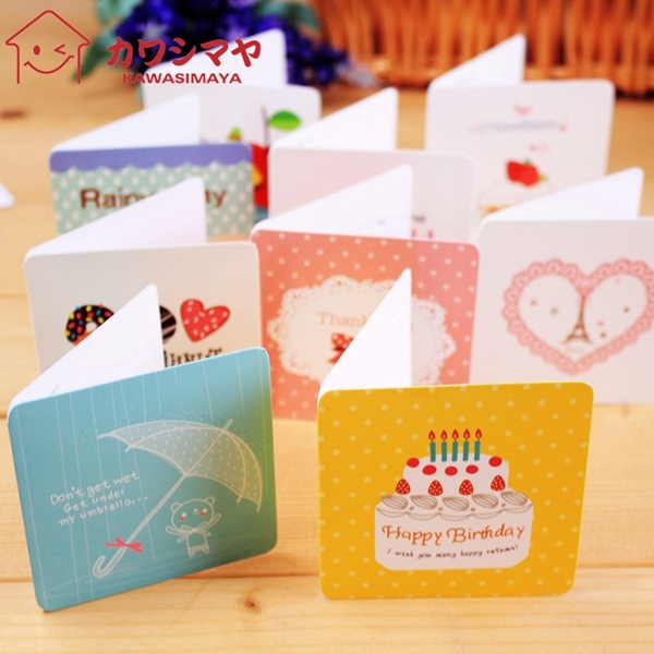 To Write A Small Card Korea Creative Birthday Card Cute Little Mini