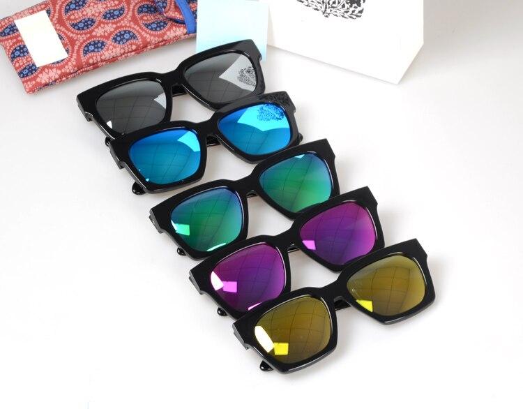 ٩(^‿^)۶Nueva moda gran cuadrado fresco Marcos color polarizado Gafas ...