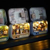 DIY Caja de Teatro En Un Corner Feliz 3D Hecho A Mano de Madera Casa de Muñecas Casas lindas Montar Caja Habitación Miniaturas Juguetes Kids Regalo de Año Nuevo