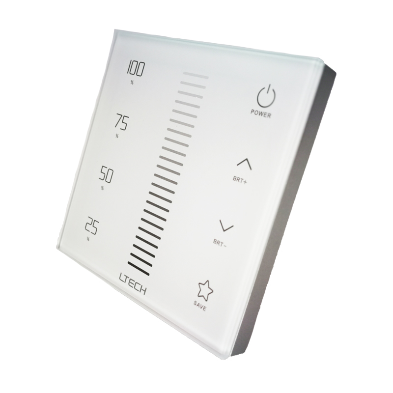 New Ltech LED Dimmer 220V EX1S Wall Mount Touch Panel 2.4GHz and DMX AC100~240V Wireless RF Remote DMX512 Multi Function Dimmer 1 pcs full range multi function detectable rf lens detector wireless camera gps spy bug rf signal gsm device finder