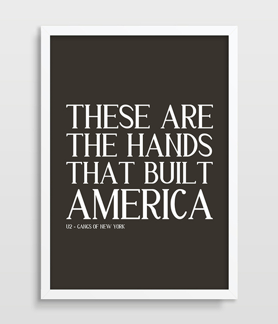 Gangs Of New York Poster U2 Song Lyrics Movie Poster Film Living Room Decor  Movie Art