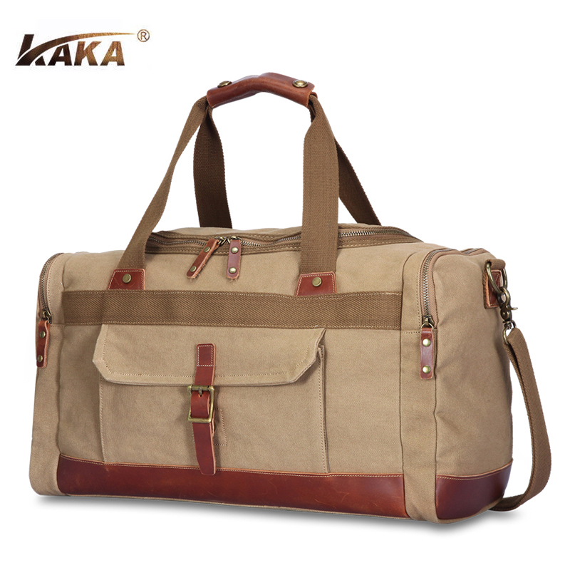 Nouvelle marque Designer Vintage hommes bagages sacs de voyage grande capacité toile sac à main Messenger sacs à bandoulière sacs de voyage vert kaki