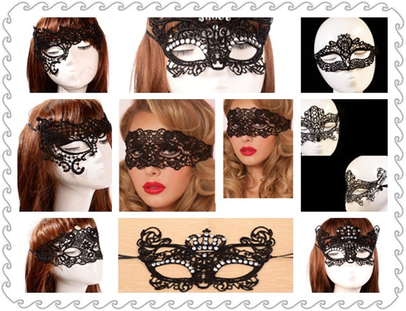 Hot Sale 1Pc Black White Sexy Lady Lace Masks Cutout Eye Masks for Halloween Masquerade Party Fancy Dress Costume Fox Mask