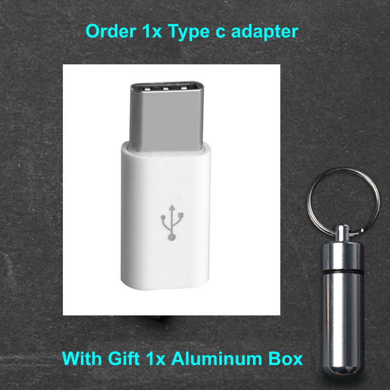 Micro USB Female To Type C Male Type-C Cable Adapter Charger Data USB-C Converter For Xiaomi Mi 5 Oneplus With Aluminum Bottle